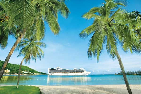 Crown Princess Cruise Ship in the Caribbean