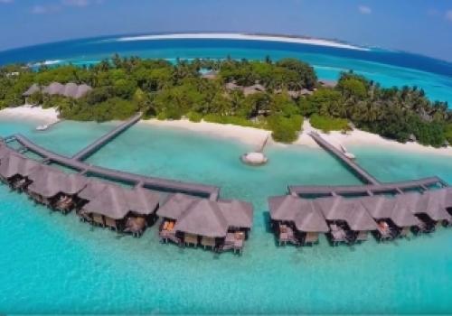 Gliding Above the Maldives