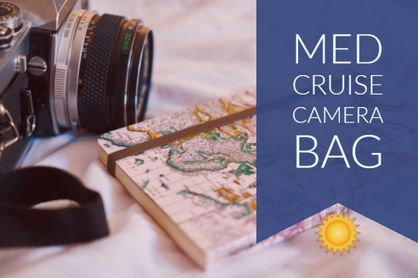 Mediterranean Cruise Photography Camera Bag