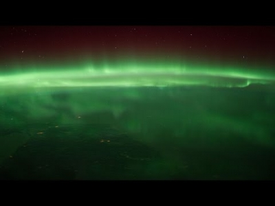 Aurora Borealis seen from International Space Station [HD 1080p]